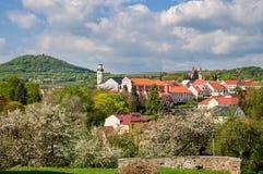 Città di Klasterec nad Ohri fotografie stock