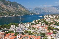 Città di Kotor in baia, Montenegro fotografia stock libera da diritti