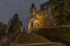 Città di Krasna Lipa in Boemia del nord Immagini Stock Libere da Diritti