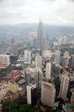 Città di Kuala Lumpur di vista di sera Fotografia Stock