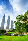 Città di Kuala Lumpur nel distretto di KLCC Immagine Stock
