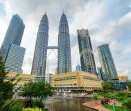 Città di Kuala Lumpur nel distretto di KLCC Immagine Stock Libera da Diritti