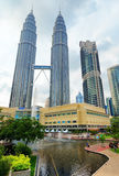 Città di Kuala Lumpur nel distretto di KLCC Fotografia Stock Libera da Diritti