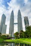 Città di Kuala Lumpur nel distretto di KLCC Immagini Stock Libere da Diritti