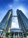 Città di Kuala Lumpur nel distretto di KLCC Immagini Stock