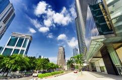 Città di Kuala Lumpur nel distretto di KLCC Fotografia Stock