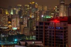 Città di Kuala Lumpur nella notte Immagini Stock Libere da Diritti