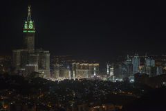 Città di La Mecca leggera Immagini Stock