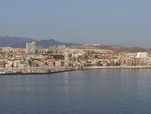 città di Las Palmas e del porticciolo fotografati da porto immagini stock