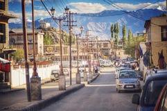 Città di Leh fotografia stock
