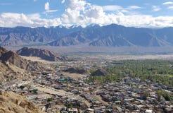 Città di Leh e bello paesaggio, HDR Fotografie Stock