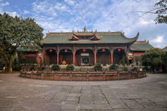 Città di Leshan, portone di Dacheng del tempio di Sichuan Qianwei Qianwei Fotografia Stock Libera da Diritti