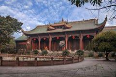 Città di Leshan, portone di Dacheng del tempio di Sichuan Qianwei Qianwei Fotografie Stock Libere da Diritti