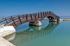 CITTÀ DI LEUCADE, GRECIA 17 LUGLIO 2014: Vista panoramica della città di Leucade, Grecia Fotografie Stock