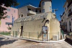 CITTÀ DI LEUCADE, GRECIA 17 LUGLIO 2014: Vista panoramica della città di Leucade, Grecia Immagine Stock