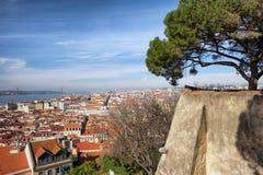 Città di Lisbona nel Portogallo Fotografie Stock Libere da Diritti