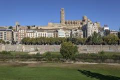 Città di Lleida Fotografie Stock