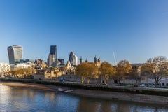 Città di Londra di mattina Fotografia Stock