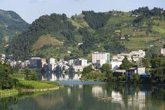 Città di Longsheng, Guilin, Cina Immagini Stock Libere da Diritti