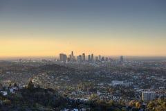 Città di Los Angeles all'alba Fotografia Stock