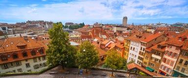 Città di Losanna nello svizzero della Svizzera Fotografia Stock Libera da Diritti
