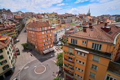 Città di Losanna nello svizzero della Svizzera Fotografie Stock