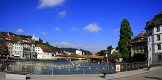 Città di Lucerna Fotografie Stock Libere da Diritti