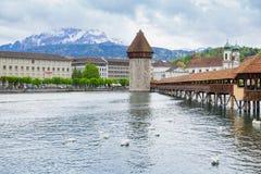 Città di Lucerna, Svizzera centrale Immagini Stock