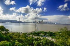 città di Macao fotografie stock