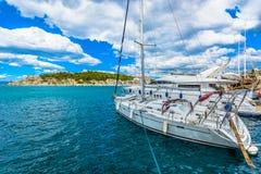 Città di Makarska in Croazia Fotografia Stock