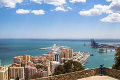 Città di Malaga spain Fotografia Stock Libera da Diritti