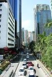 Città di Mandaluyong, Filippine, ruspe spianatrici del cielo fotografia stock