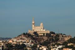 Città di Marsiglia, basilica, francese immagini stock libere da diritti