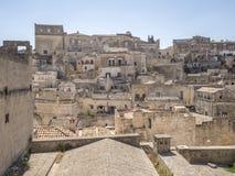 Città di Matera in Italia Fotografie Stock Libere da Diritti