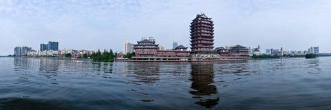 Città di Meishan, provincia del Sichuan Fotografie Stock