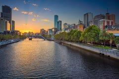 Città di Melbourne fotografie stock
