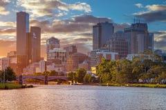 Città di Melbourne fotografie stock libere da diritti