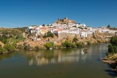 Città di Mertola nel Portogallo Fotografia Stock Libera da Diritti