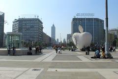Città di Milano del quadrato della stazione ferroviaria fotografia stock