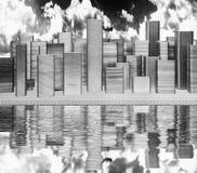 Città di modello Immagini Stock