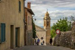 Città di Montalcino in Toscana in Italia Fotografia Stock