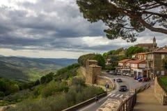 Città di Montalcino in Toscana in Italia Fotografia Stock Libera da Diritti