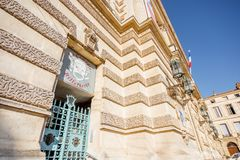Città di Montpellier in Francia Immagini Stock Libere da Diritti