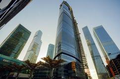 Città di Mosca del centro di affari Immagini Stock Libere da Diritti