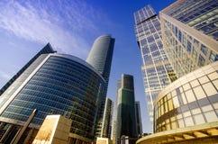 Città di Mosca del centro di affari Fotografia Stock Libera da Diritti