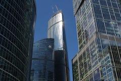 Città di Mosca del centro di affari Immagine Stock Libera da Diritti