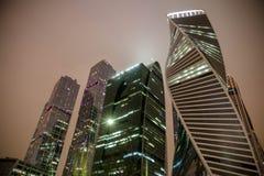 Città di Mosca Le case più alte a Mosca Fotografia Stock Libera da Diritti