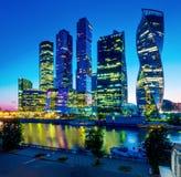 Città di Mosca, sera Mosca, Russia immagine stock