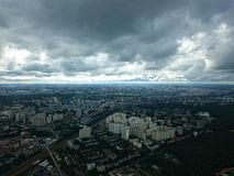 Città di Mosca Vista dalla torre di Ostankino in autunno fotografia stock