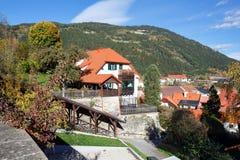 Città di Murau nella caduta La Stiria, Austria Fotografia Stock Libera da Diritti